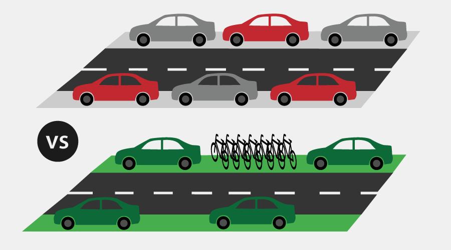 więcej miejsc do parkowania