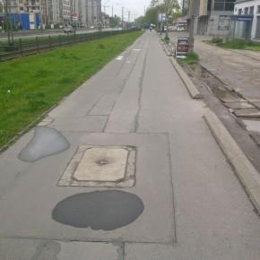 Kraków. Ciąg pieszo-rowerowy ul. Kapelanka