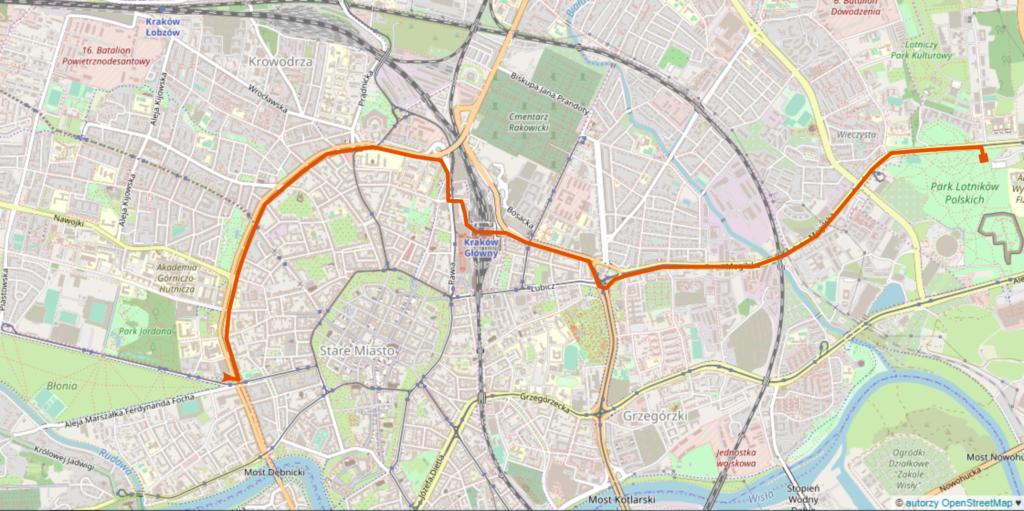 mapa przejazd rowerowy